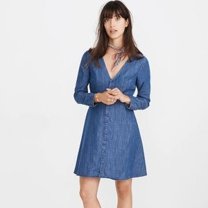 Madewell Denim Lilyblossom Button-Front Dress